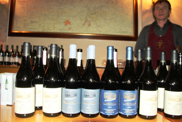 le bottiglie in degustazione