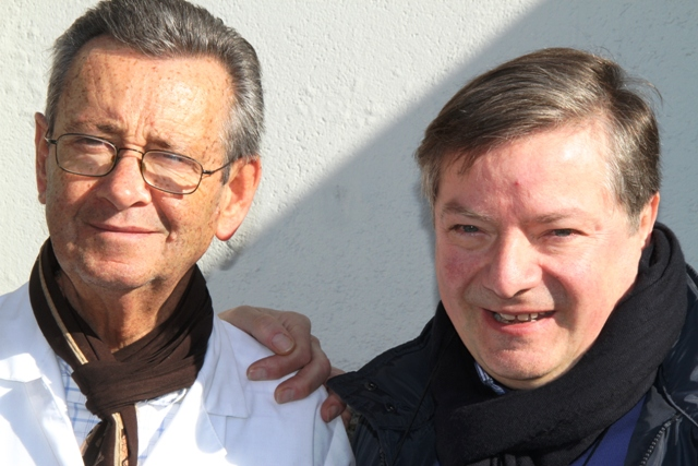 Domenico D'Onghia con Pasquale Fatalino della Locanda di Noci