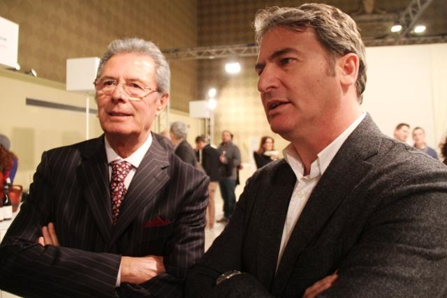 Gianfranco Fino (il mitico ES) e Angelo Maci (presidente Due Palme)