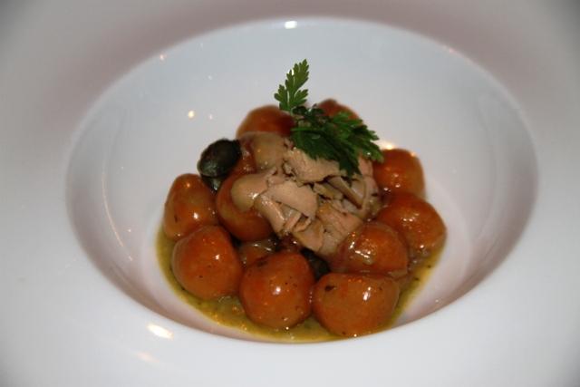 gnocchi di zucca con lamelle di foie gras