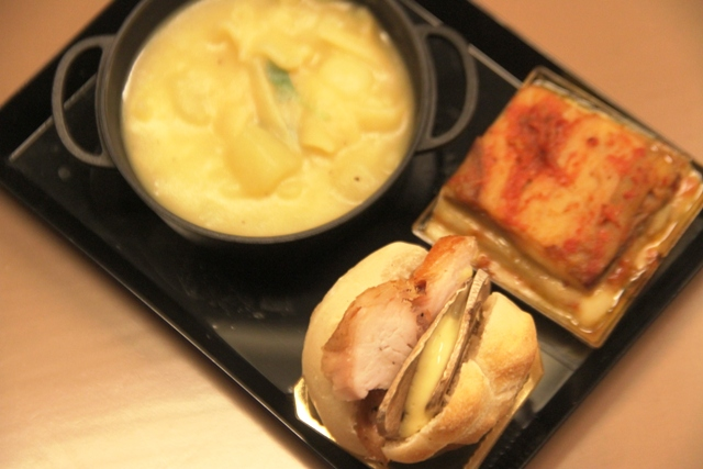 panino parmigiana e pasta e patate