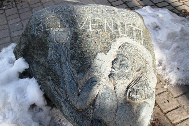 il benvenuto su pietra