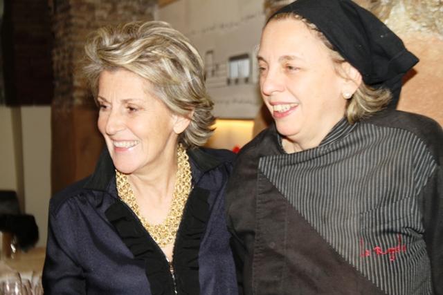 le due protagoniste: Ornella Venica e Marina Perna, chef della Regola