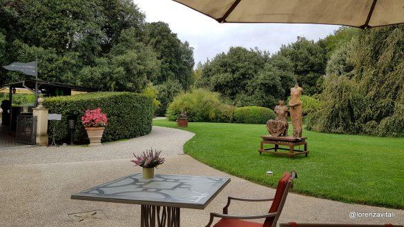 In giardino al Four Seasons di Firenze