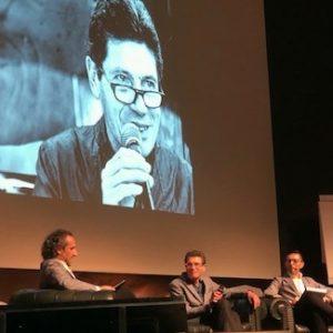Da sinistra a destra, Gennaro Buono, Luigi Cremona ed Enrico Mazza durante l'evento a San Marino.